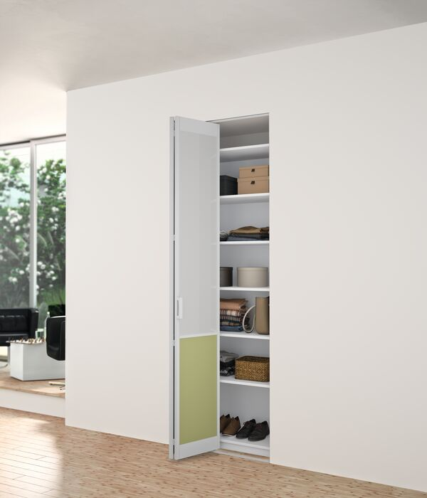 Porte de placard pliante simple sur-mesure Facroty Manhattan d'YKARIO - porte simple ouverte